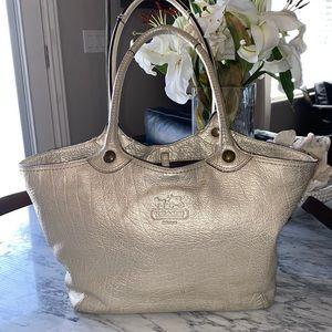 Coach Buttery Metallic Golden Leather Bag